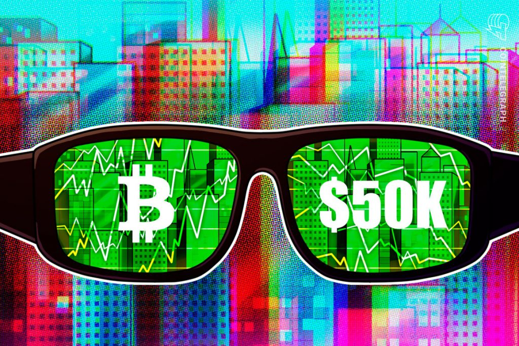 Bitcoin se prepara para enfrentar US $ 50 mil com os comerciantes de futuros fazendo 'modesta baixa' no BTC