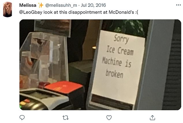 Máquinas quebradas da McFlurry são fonte de várias piadas e reclamações online