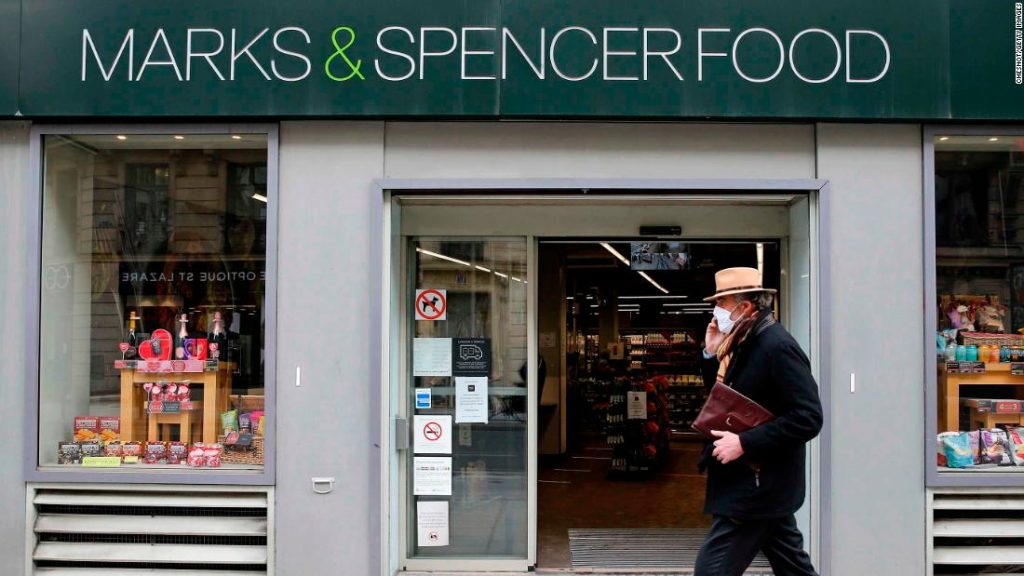 A Marks & Spencer food store in Paris.