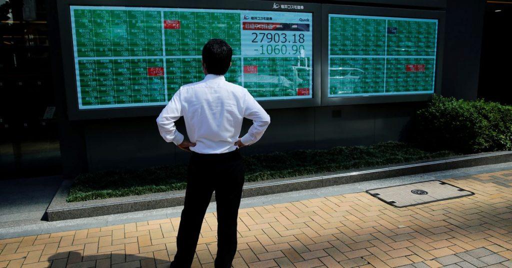 As ações asiáticas vacilaram com o petróleo atingindo altas de 3 anos