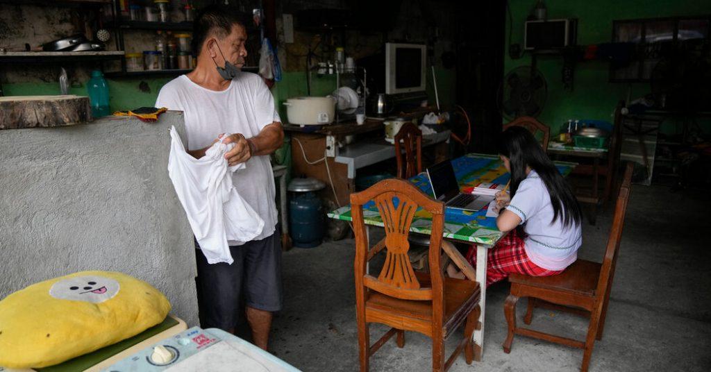 Com o desenvolvimento do Covid, os alunos filipinos começam seu segundo ano online