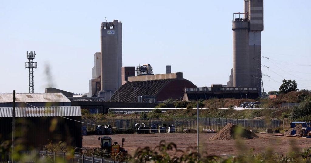 Grã-Bretanha diz à indústria de alimentos para se preparar para um choque no preço do dióxido de carbono