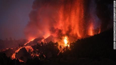 Erupção do vulcão em La Palma, nas Ilhas Canárias espanholas