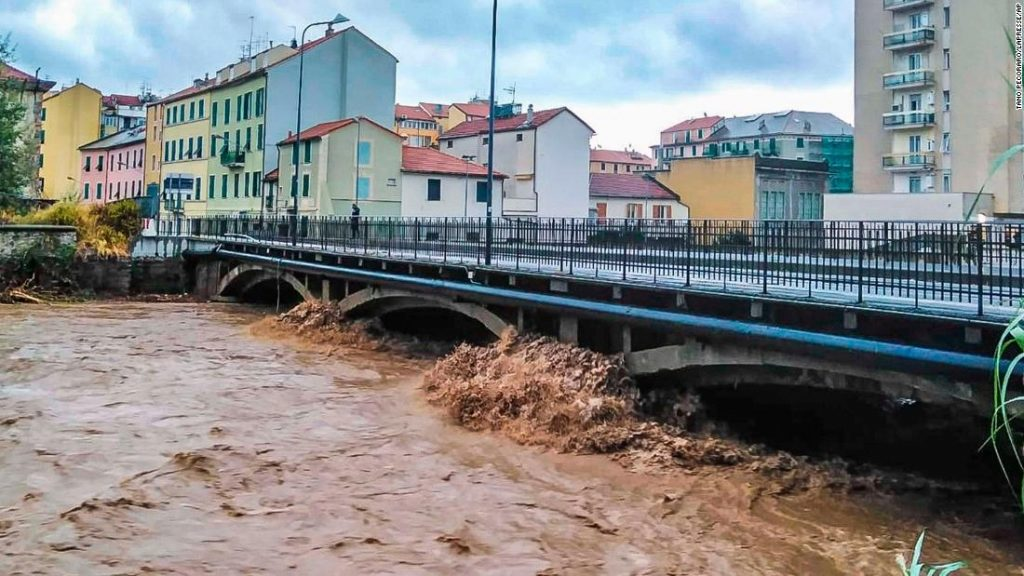Mais de sessenta centímetros de chuva caíram na Itália em meio dia, algo que nunca havíamos visto na Europa antes