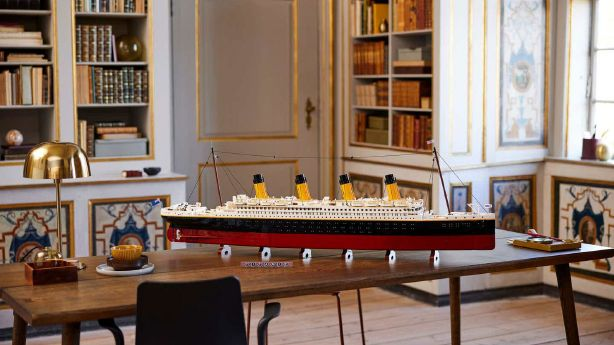 The Lego Titanic replica is 53 inches long.