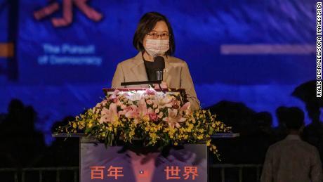 O presidente disse que Taiwan não busca confronto militar, mas defenderá sua liberdade